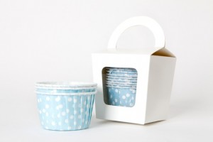 Polka Dot Candy Soirees Blue Spot Baking Cups