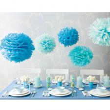 Martha Stewart Blue Pom Pom set