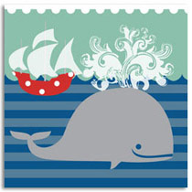 Birthday Card KatyJane Designs Blue Whale