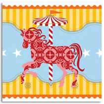 Birthday Card KatyJane Designs Carousel