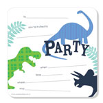 Party Invitations Poppiseed Designs Dino - Roar Boxed Set