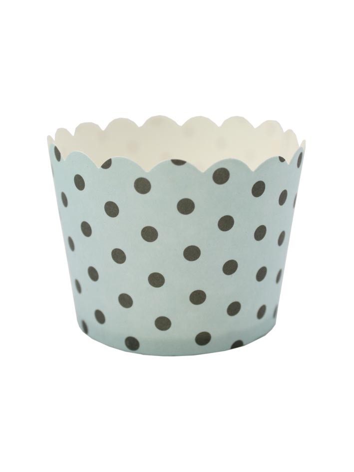 Robert Gordon Le petite gateau duck egg blue and black spot