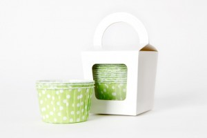 Polka Dot Muffin Cups Green