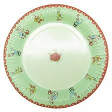 Terrific Little circus paper plates 12 pack