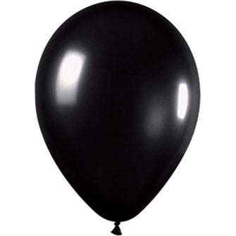 Party Balloons Metallic Black
