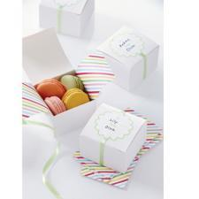 Treat Box Modern Festive White
