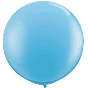 Party Balloon Round 90cm Pale Blue