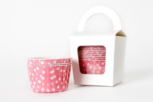 Polka Dot Candy Soirees Pink Baking Cups