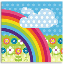 Birthday Card KatyJane Designs Rainbow Card