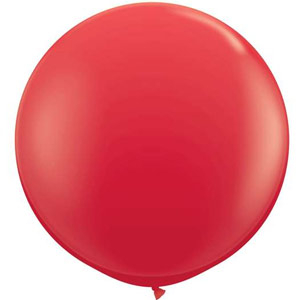 Party Balloon Round 90cm Red