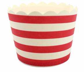 Robert Gordon Le Petite Gateau Red & White Stripe Cupcake Wrappe