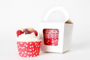 Polka Dot Muffin Cases Red