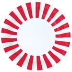 Paper Eskimo Candy Cane Red Plates