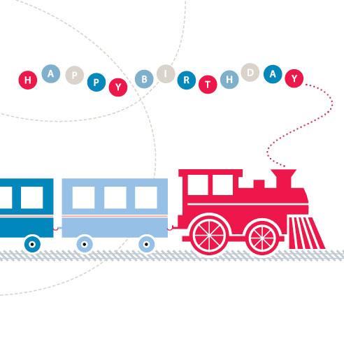 Just Smitten All Aboard the Train Birthday Card – Train Birthday Cards