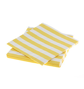 Sambellina reversible Yellow Stripe Napkins