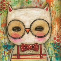 Greeting Card Lala Leonard the owl mini card