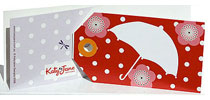 Gift Tag Katy Jane Designs Umbrella Girl
