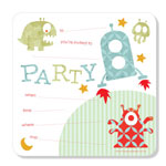 Party Invitations Poppiseed Designs Outer Space Boxed Set