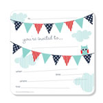 Party Invitations Poppiseed Designs Owl Bunting Boxed Set