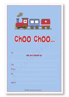 Party Invitations Set Sambellina Choo Choo Train