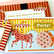 Party Invitations KatyJane Designs Magical Carousel