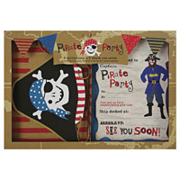 Ahoy there Pirate Invitation & Thankyou Set