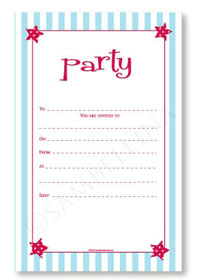 Party Invitations Set Sambellina Stars